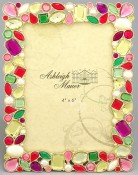 Brightly Colored Shards Jeweled Picture Frame