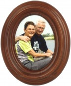 Small Classic Walnut Oval Frame