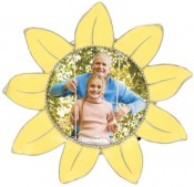 Yellow Begonia Flower Picture Frame