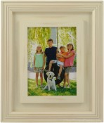 Distressed Dimensional Cream Wood Picture Frame