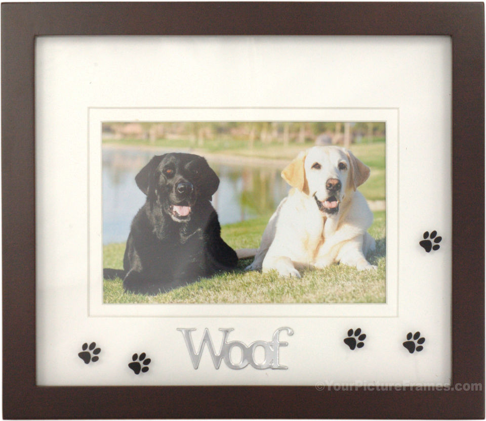 woof black dog picture frame - Dog Frame