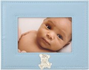 Blue Embossed Baby Picture Frame