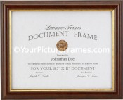 Simple Walnut Diploma Frame