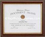 Simple Walnut Diploma Frame