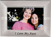 Brushed Silver Aunt Picture Frame