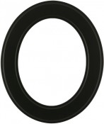 Bianca Matte Black Oval Picture Frame