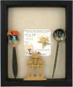 Black Shadow Picture Frame with Linen Display