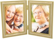 Yvonne Gold Double Picture Frame
