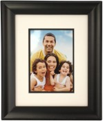 Treviso Double Mat Archival Black Picture Frame