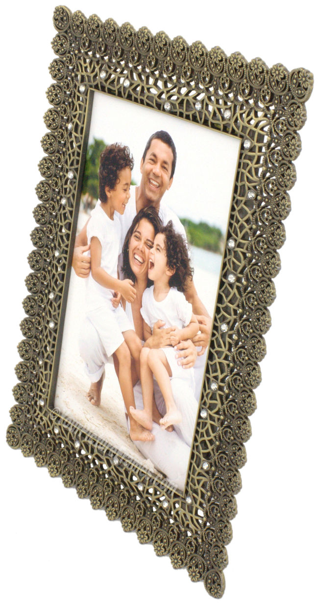 Mecca Jeweled Metal Picture Frame