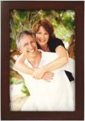 Simple Wood Espresso Brown Picture Frame