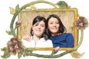 Floral Vine Jeweled Flower Picture Frame