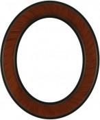 Bianca Vintage Walnut Oval Picture Frame
