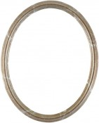 Laini Champagne Silver Oval Picture Frame