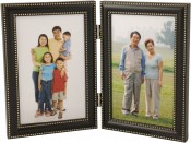 Oil Rubbed Bronze Metal Double Picture Frame