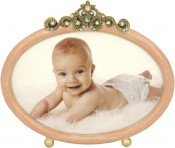 Pink Horizontal Oval Picture Frame