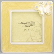 Yellow Butterfly Baby Picture Frame