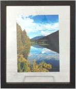 Black Wood Floating Picture Frame