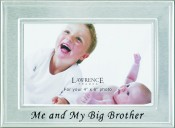 Brushed Silver Big Brother Picture Frame