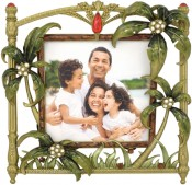 Palm Jeweled Tropical Picture Frame