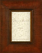 Eva Distressed Brown Burl Wood Frame