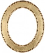 Cora Gold Leaf Oval Picture Frame