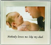 Brushed Silver Dad Picture Frame with Inscription