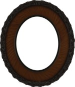 Ella Vintage Walnut Oval Picture Frame