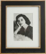 Zion Black Matted Bamboo Picture Frame