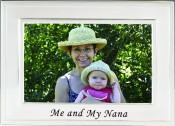 Brushed Silver Me and My Nana Picture Frame