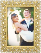 Floradora Gold Jeweled Picture Frame