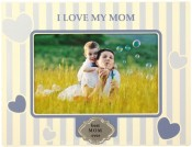 Blue I Love My Mom Picture Frame