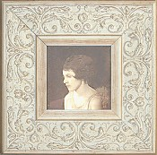 Leila White Picture Frame