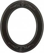 Hannah Black Silver Oval Picture Frame