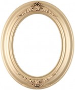 Emma Gold Oval Picture Frame