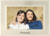 Brushed Silver Friends Picture Frame