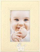 Ivory Embossed Baby Picture Frame