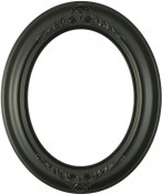 Emma Matte Black Oval Picture Frame
