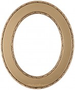 Cora Gold Oval Picture Frame