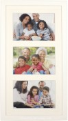White Wood Matted Triple Picture Frame