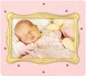 Pink Polka Dot Baby Picture Frame