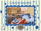 Blue I Love My Grandpa Picture Frame