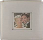 Celebrations White Moire Wedding Photo Album