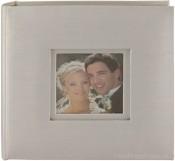 Celebrations White Moire Wedding Photo Album