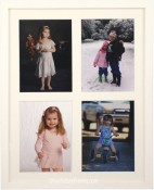 White Wood 4 Opening Collage Picture Frame
