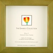 Olive Green Shadow Box Square Frame