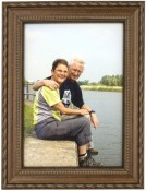 Classic Bronze Rope and Bead Picture Frame