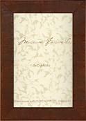 Ina Vintage Brown Burl Wood Frame
