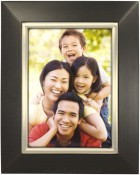 Black Wood Picture Frame with Pewter Metal Bezel