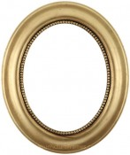 Laurel Gold Leaf Oval Picture Frame